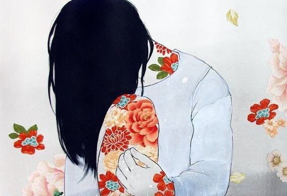Kvinder med borderline personlighedsforstyrrelser sidder med bøjet hoved
