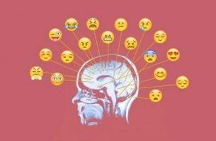 Emojis ud fra hjerne viser, hvordan vi kan bearbejde følelser