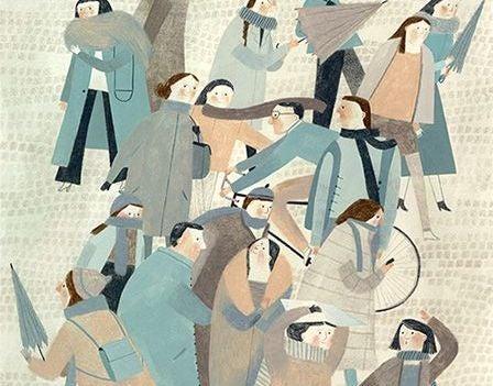 Folkemængde gør det svært at lytte til hinanden på grund af larm