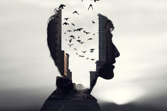 Når du har til vane kun at tænke på dig selv, kan dit hoved ligne denne mands, med tomrum fyldt med fugle