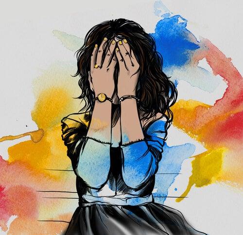 Hvis du ikke kan forstå din frygt kan du få lyst til at gemme dig ligesom denne kvinde