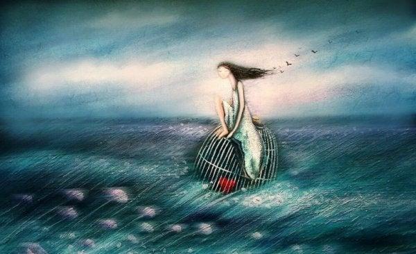 Kan du ikke elske dig selv, er det som at sidde på hav med dit hjerte i et bur