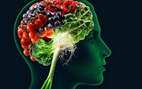 Hjerne med grøntsager viser, hvordan noget mad kann forbedre hukommelsen