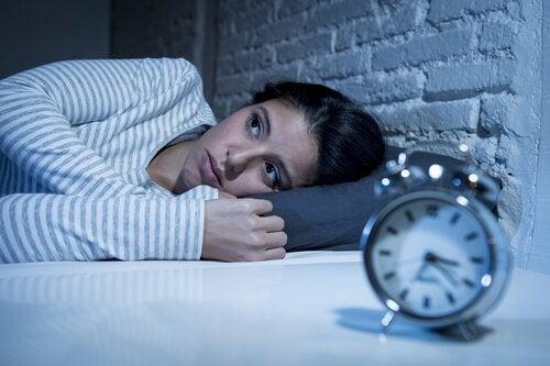 Kvinde kan ikke sove