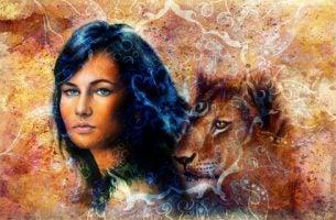 Kvinde med løve