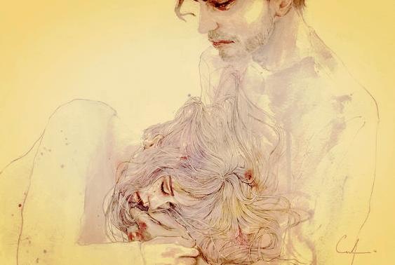 Mand holder ulykkelig kvinde, for hun stoppede aldrig med at elske ham