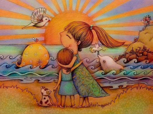 Mor krammer barn og anvender alternative undervisningsmetoder