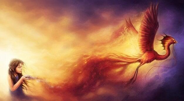 Pige og myten om føniksfuglen