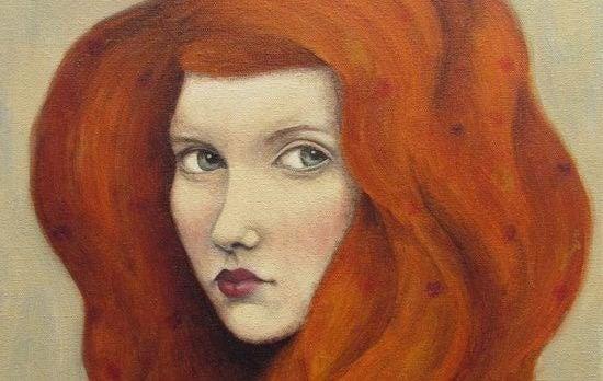 """Rødhårets kvinde blik siger """"find ikke på undskyldninger for ikke at ændre dig til det bedre"""""""