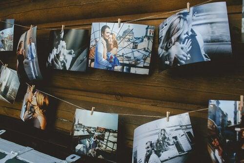 Romantiske billeder på væg
