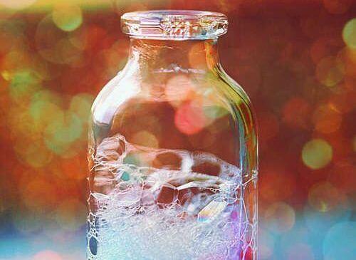 Sæbebobler i flaske