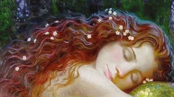 Kvinde med rødt hår har valgt at sige stop og sover nu roligt