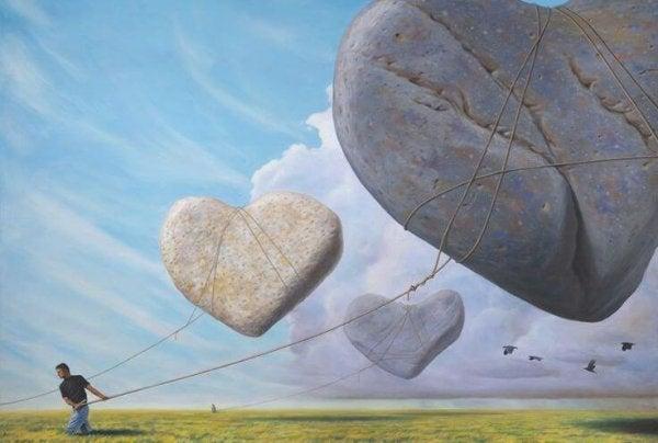 Sten formet som hjerter