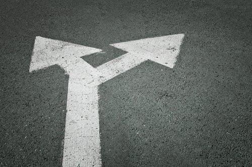 Pile på vej viser, at man skal vælge