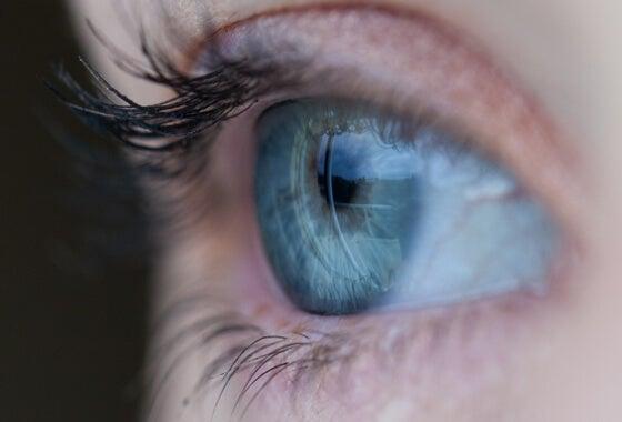Nærbillede af øje, der kan se meningsfulde detaljer
