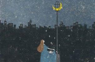 kvinde samler stjernestøv
