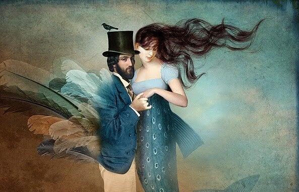 Maleri af par, der vil vise deres ondskabsfulde side