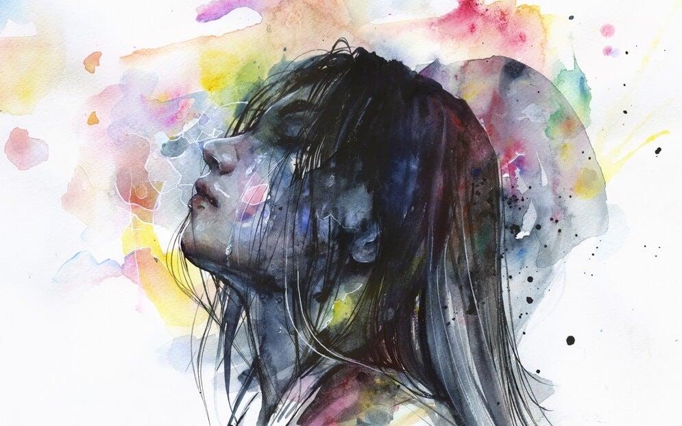 Kvinde i vandfarver