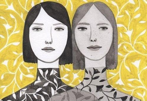 To kvinders ansigter