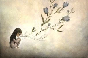 Pige med blomst vokse ud af kroppen er eksempel på intelligente mennesker