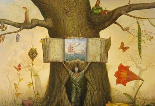 Bog i træ