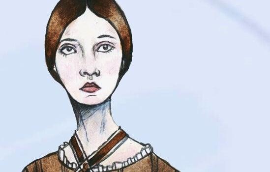Tegning af trist kvinde, der lider af undgående personlighedsforstyrrelse