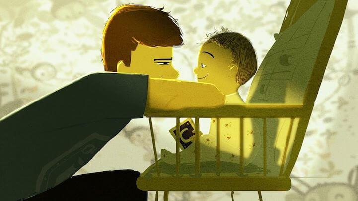 Far og søn viser optimale familieforhold