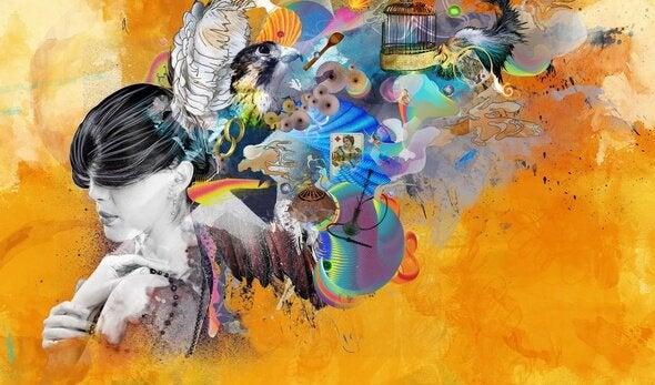 Kvinde med masser af farver