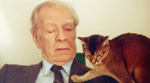 Jorge Luis Borges med kat