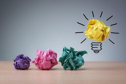 Papirkugler fører til idé