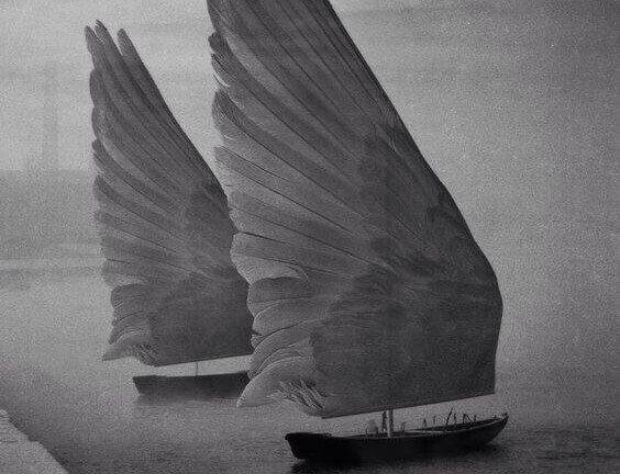 Skibe med vinger som sejl
