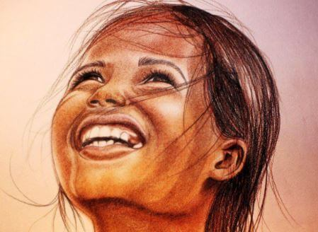 Smilende pige modtager altid de rigtige svar til børn