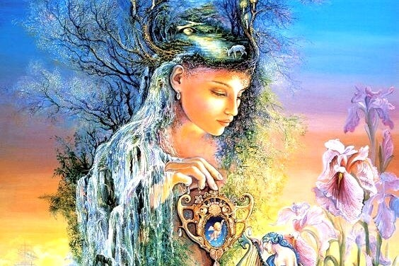 Kvinde med træer og lys udviser følelsesmæssig modenhed