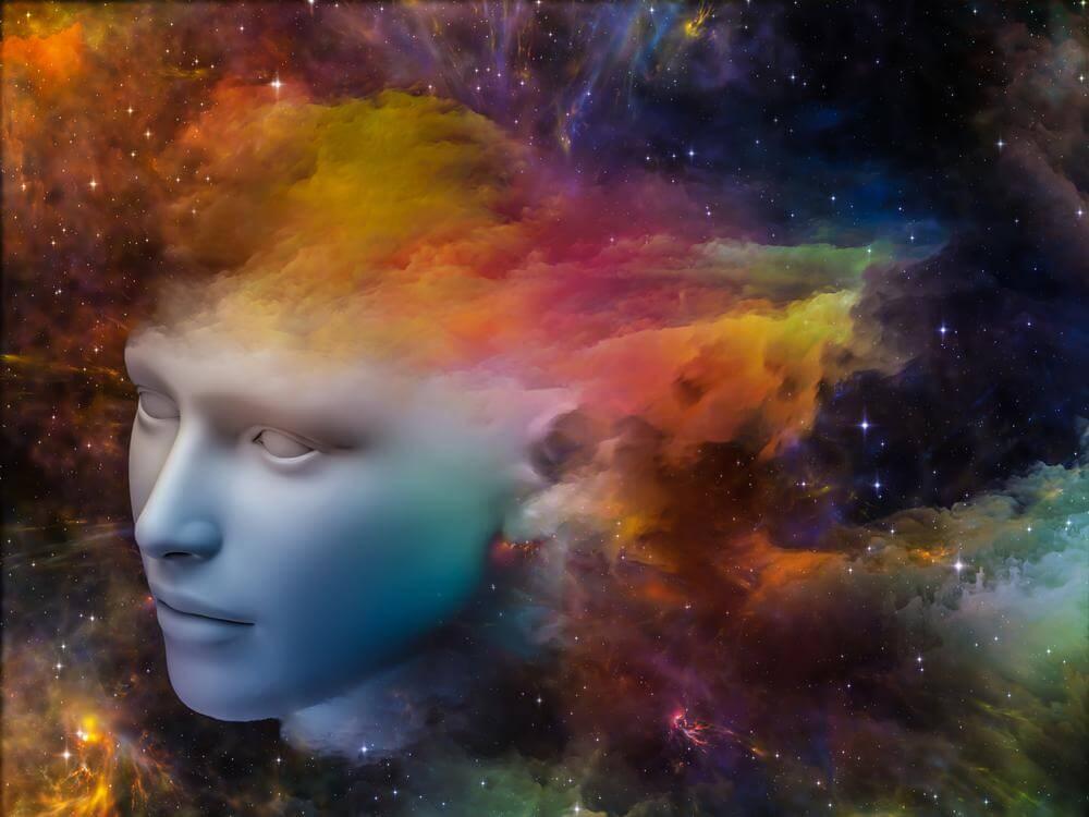 Hoved i farvet univers
