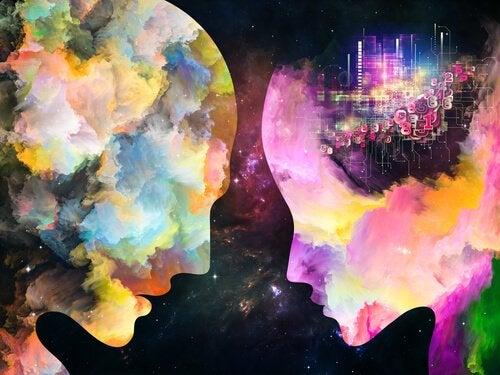 Ansigter i forskellige farver