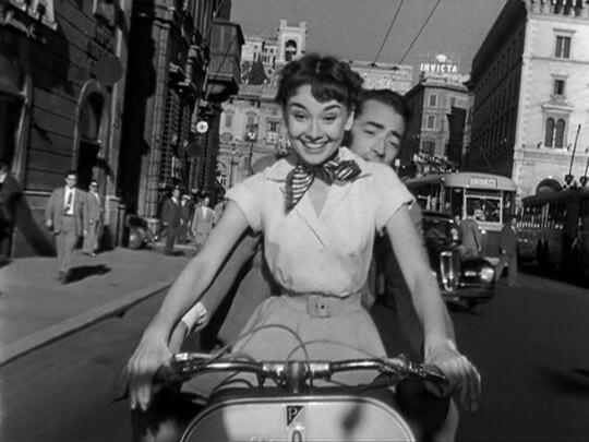 Audrey Hepburn på cykel