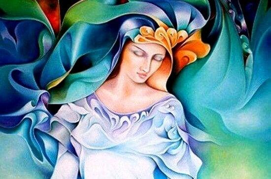 Kvinde i blåt hersker over sit eget liv