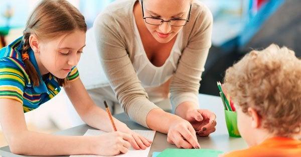 Lærer sammen med børn
