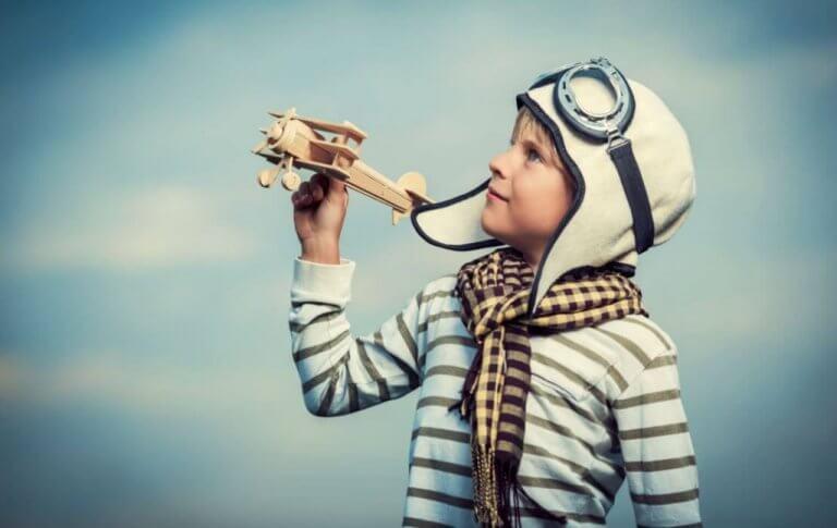 Dreng drømmer om at blive pilot
