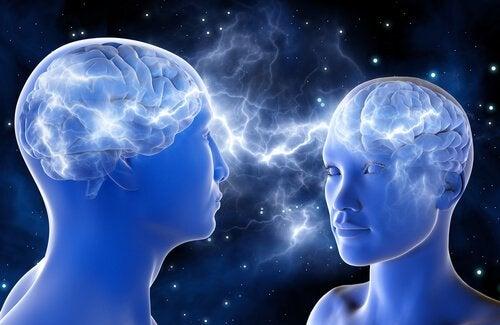 Forbindelse mellem mennesker illustrerer hvordan spejlneuroner og empati virker