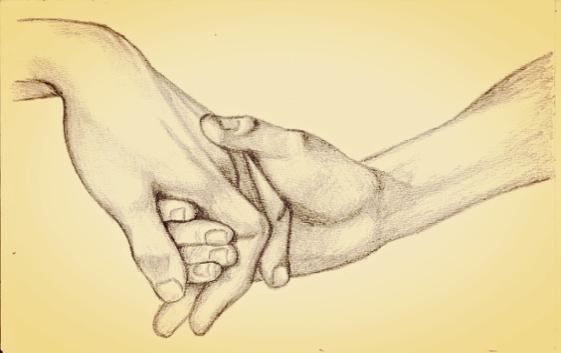Personer holder i hånd og nyder fordele ved venlighed