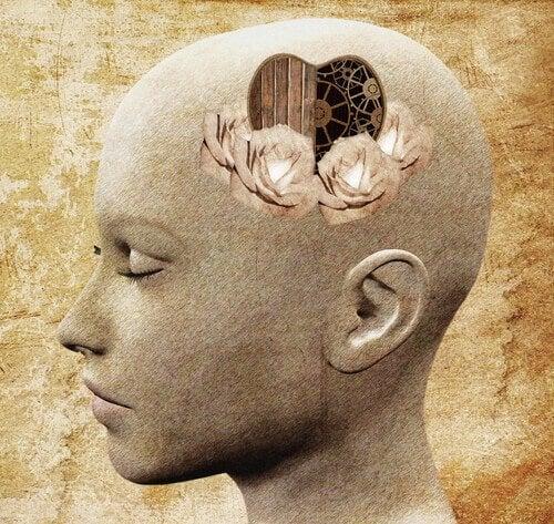 Hoved med hjerte som hjerne udøver selvrefleksion