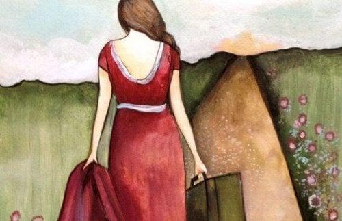 Kvinde på vej