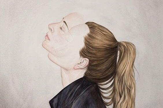 Kvindes ansigt er sløret på grund af pronoia