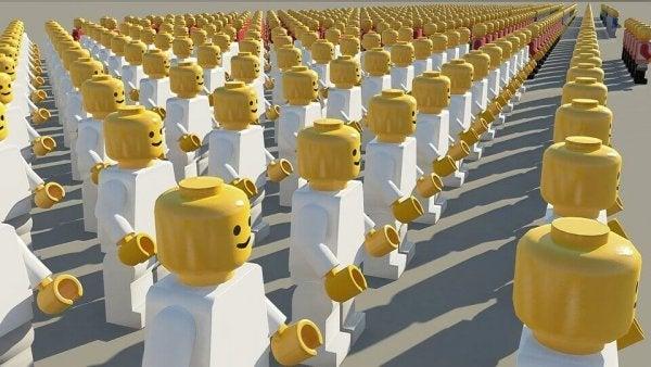 Legomennesker illustrerer socialpsykologi