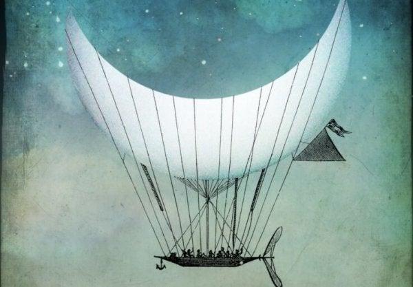 Måne bærer båd