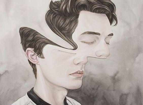 Mand med forvrædet ansigt er plaget af affektiv forhindring