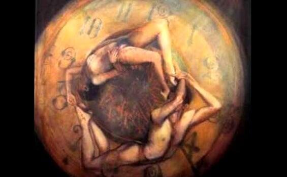 Kroppe flettet sammen illustrerer seksualdrift