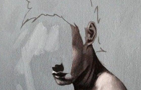 Mand med halvdelen af hovedet slettet, da han ikke kan udleve drømme