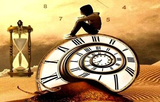 Person på ur ønsker at undgå at spilde tiden